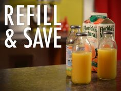 Household Tips & Tricks: Save money by bottling your own juice for .75 cents a each! Snapple or Nantucket Nectars bottles are the best for re-use.