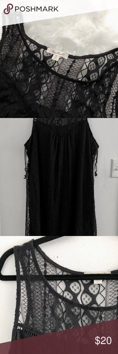 NWOT Paper Planes Black Lace Swing Dress BRAND NEW.  Complete black lace dress. Has slip starting from bust to the bottom. The perfect cocktail dress to wear for a night out or brunch. 3X True Paper Planes Dresses Midi