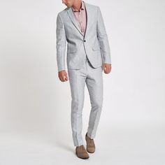 Sharpen up your style with our new men's suits collection featuring matching men's suit jackets and trousers and fits from regular to skinny. New Mens Suits, Birch Wedding, Skinny Suits, 3 Piece Suits, Your Style, Suit Jacket, Trousers, Blazer, Grey