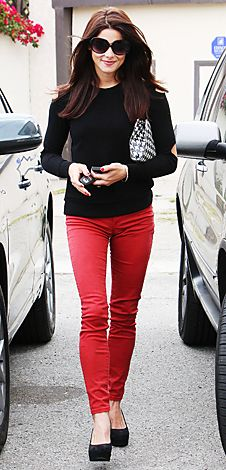 I need some red pants! Ashley Greene makes them look cool.