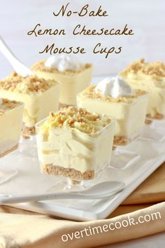 No-Bake Lemon Cheesecake Mousse Cups(Semi homemade)