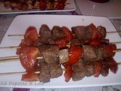 Brochette de boeuf tomates