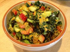 Sweet potato and kale salad - raw vegan transition. This is perfect for summer time! Loads of fresh veggies. A healthier alt to the traditional potato salad Vegetarian Salad Recipes, Going Vegetarian, Clean Recipes, Raw Food Recipes, Healthy Recipes, Healthy Cooking, Healthy Eating, Clean Eating, Healthy Food