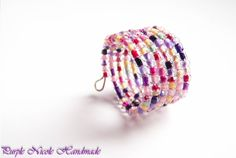 Candy - Handmade Ring made by Purple Nicole (Nicole Cea Mov). Memory Wire Rings, Memory Wire Jewelry, Seed Bead Jewelry, Wire Wrapped Jewelry, Seed Beads, Gemstone Jewelry, Jewelry Ideas, Diy Jewelry, Nicole Nicole