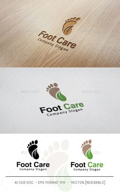 Foot Care Logo Template PSD, Vector EPS, AI. Download here: http://graphicriver.net/item/foot-care-logo/11052914?ref=ksioks