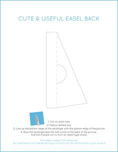 Cute and Useful Easel Stand ~ make an easel stand for a photo, poster, card, etc. with this pdf by Judy at Cute and Useful