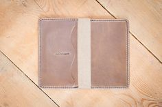 this is beautiful. made in canada. Leather Field Notes Cover - Driftwood Leather Field Notes Cover With Pockets