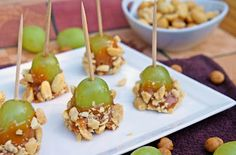 Caramel Apple Grapes...They taste JUST like little mini caramel apple bites!