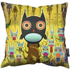 Owls Throw Pillow, $58, now featured on Fab.
