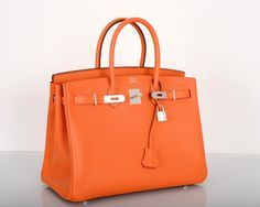 hermes orange crocodile birkin 35cm