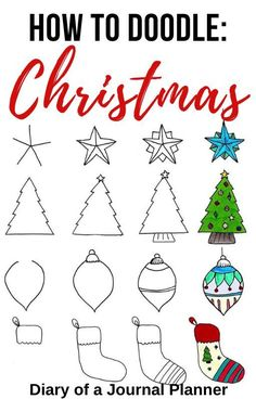 christmas doodles The best easy to guides for Christmas doodles to add into your Christmas themed bullet journal. Bujo Doodles, Love Doodles, Simple Doodles, Christmas Doodles, Christmas Art, Xmas, Christmas Ideas, Bullet Journal Themes, Bullet Journal Art