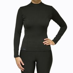 """Women's Multi-Purpose Heater Shirt:  (Cold weather shirt, Rash guard or Base layer)  Our """"Heater Shirts"""" are great for cold weather running, hiking, walking, skiing, swimming or as a baselayer in cold weather.  They stretch, are soft inside and are very durable!  Limited time offer:  Free shipping and free returns!  (US only)     Buy with confidence. Our products are made to last.  Perfect for:  Water Skiing, Cold weather running, Downhill Skiing (base layer), Cold weather Hiking, Cold ..."""