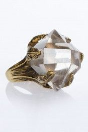 Spell & Gypsy Crystal Visions Feather ring