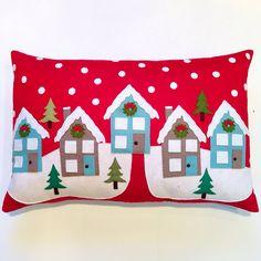 Handmade Felt Winter Solstice Pillow by Three Owls Handmade