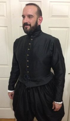 MADE TO MEASURE 16th/17th Century Plain Silk Suit