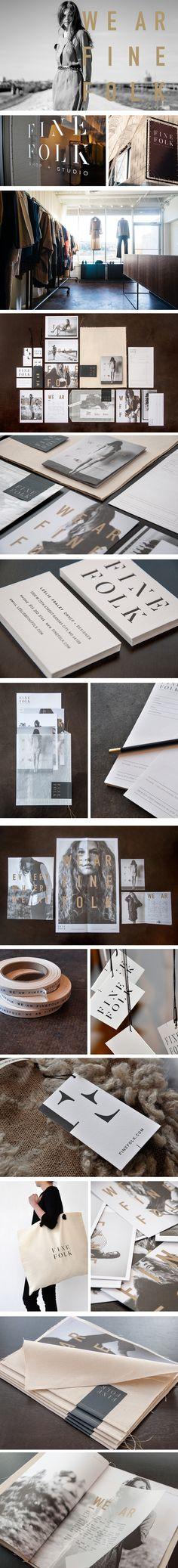 Fine Folk | Art Direction, Branding, Business Collateral, Copywriting, Design, Marketing Materials, Name, Packaging, Signage, Website | Design Ranch