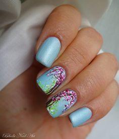 Bibulle Nail Art: Nail art Pastel - Fleurs de Cerisier (+tuto vidéo ...
