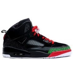 newest ff7be 075fb Cheap Buy Nike Air Jordan Spizike Black And Varsity Red-Classic Green  Sneaker Deals Store