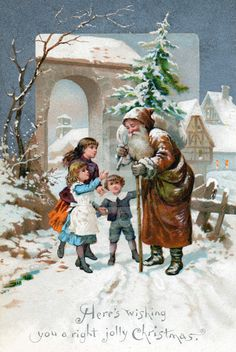 Victorian Christmas card published by W. Hagelberg