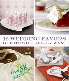 12 Wedding Favors Guests Will Really Want - Things Festive Weddings & Events #wedding #favors #eco-friendly