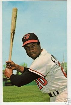 "Frank Robinson-also remembered for being the ONLY player to hit a ball out of Memorial Stadium off Luis Tiant a simple sign at the back row of seats where the ball traveled over just said ""HERE"" to signify the feat"