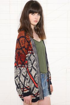 Staring at Stars Diamond Ladder Cardigan at Urban Outfitters