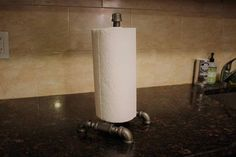 Industrial Pipe Fitting Kitchen Roll Holder