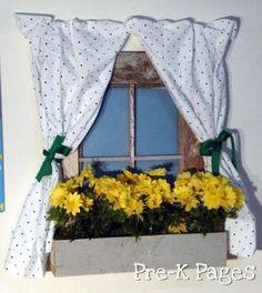 DIY No Sew Pillowcase Curtain Tutorial for Dramatic Play Center in Preschool or Kindergarten