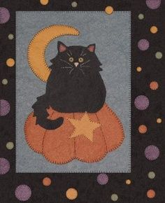 wool applique cats - Google Search