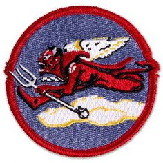 Tuskegee Airmen Fighter Squadron Patch: The last of the African American squadrons to be activated, the focus was escorting and Air Force Patches, Tuskegee Airmen, Colour Images, African, Kids Rugs, Soldiers, Military, Group, Red