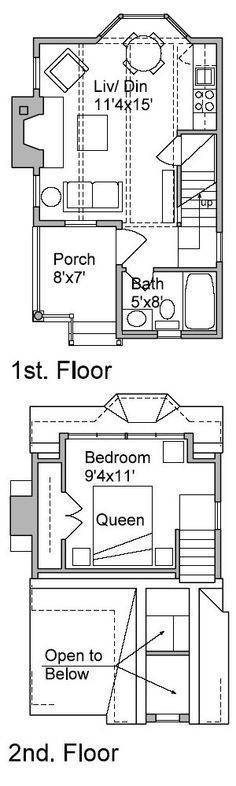Guest house plans under 1000 house plans paxton for 16x50 house plans