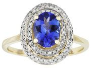 Tanzanite 1.20ct Oval With .19ctw Round White Diamond 10k Yellow Gold Ring (DEA011Y)