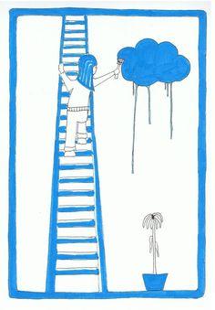 #wolk #illustratie #Joke De Baere #crazyjumble