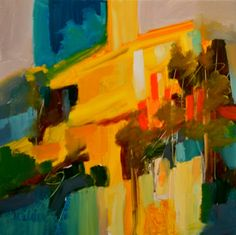 Summer in the Park by Judy Wilder Dalton Oil ~ 8 x 8