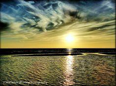zandplaat bij zonsondergang [egmond aan zee] Clouds, Sky, Mountains, Sunset, Beach, Outdoor, Heaven, Outdoors, The Beach