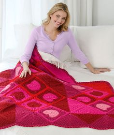 Warm My Heart Throw Crochet Pattern | Red Heart  Scrapbuster!!!