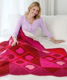 Warm My Heart Throw Crochet Pattern | Red Heart  Scrapbuster!!!