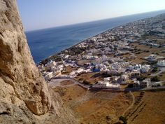 Perissa, Santorini , from the mountain