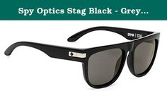 Spy Optics Stag Black - Grey Round Sunglasses,Black,58 mm. Rolling solo to the party just means more options for you since you never know what cute girl is going to show up. Keep your cool and hide your eyes while scoping out the talent with the Spy Stag Sunglasses. The plastic frame has a classic style with some modern twists for a fresh look that's sure to be noticed.