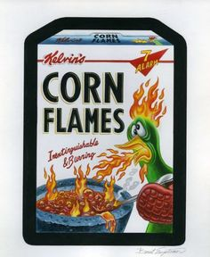 2013 Topps Wacky Packages Stickers Series 10 Original Painting Corn Flakes | eBay