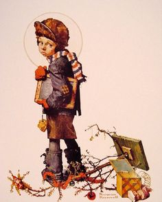Norman Rockwell, Back To School (After Christmas Is Over)