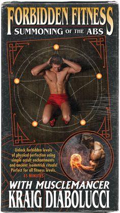 Forbidden Fitness with Musclemancer Kraig Diabolucci VHS cover