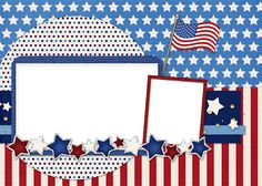 Scrapbooking TammyTags -- TT - Designer - 4 My Babies Scraps,  TT - Item - Quick Page, TT - Style - Brag Book, TT - Theme - Patriotic or July 4th