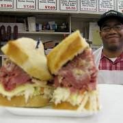 Star Deli, Southfield Michigan.  Corner of 12 Mile and Telegraph.  #7, Corned Beef on Rye, with cole slaw and cheese.  The absolute best sandwich on the planet.  Grab a sour cream cake by the register as you leave.