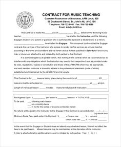 Private Music Lesson Contract Template Best Of 9 Teacher Agreement Contract Samples Word Pdf Teaching Resume, Teaching Profession, Teaching Jobs, Teaching Music, Preschool Lesson Plan Template, Lesson Plan Templates, Music Lesson Plans, Music Lessons
