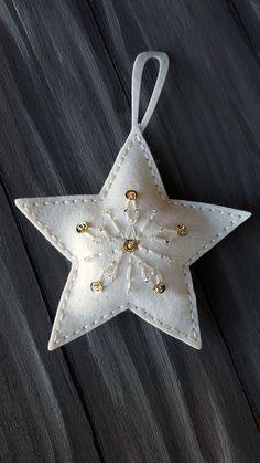 Diy christmas ornaments 409264684885085344 - 50 Awesome DIY Easy Christmas Ornaments Design Ideas Source by Easy Christmas Ornaments, Felt Christmas Decorations, Felt Ornaments, Homemade Christmas, Simple Christmas, Christmas Crafts, Ornaments Design, Handmade Decorations, Star Ornament