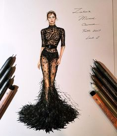 Fashion sketches 662662532659214257 - ✔ Fashion Design Portfolio Haute Couture Source by bmkoous Dress Design Sketches, Fashion Design Sketchbook, Fashion Design Drawings, Fashion Sketches, Fashion Drawing Dresses, Fashion Illustration Dresses, Fashion Dresses, Fashion Illustrations, Dresses Art