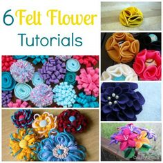 Felt flowers are one of the most common crafts made from the material, and with nature blooming it's beautiful real flowers outdoors, why not make some felt flowers as well? Today we have fo…