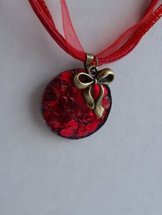 Ruby Red Heart Confetti Valentines Day Ribbon by TheLostFlower, $9.00