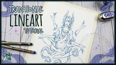 Traditional Lineart Tutorial, Amunet, Micron Pen Inking – Hildur.K.O